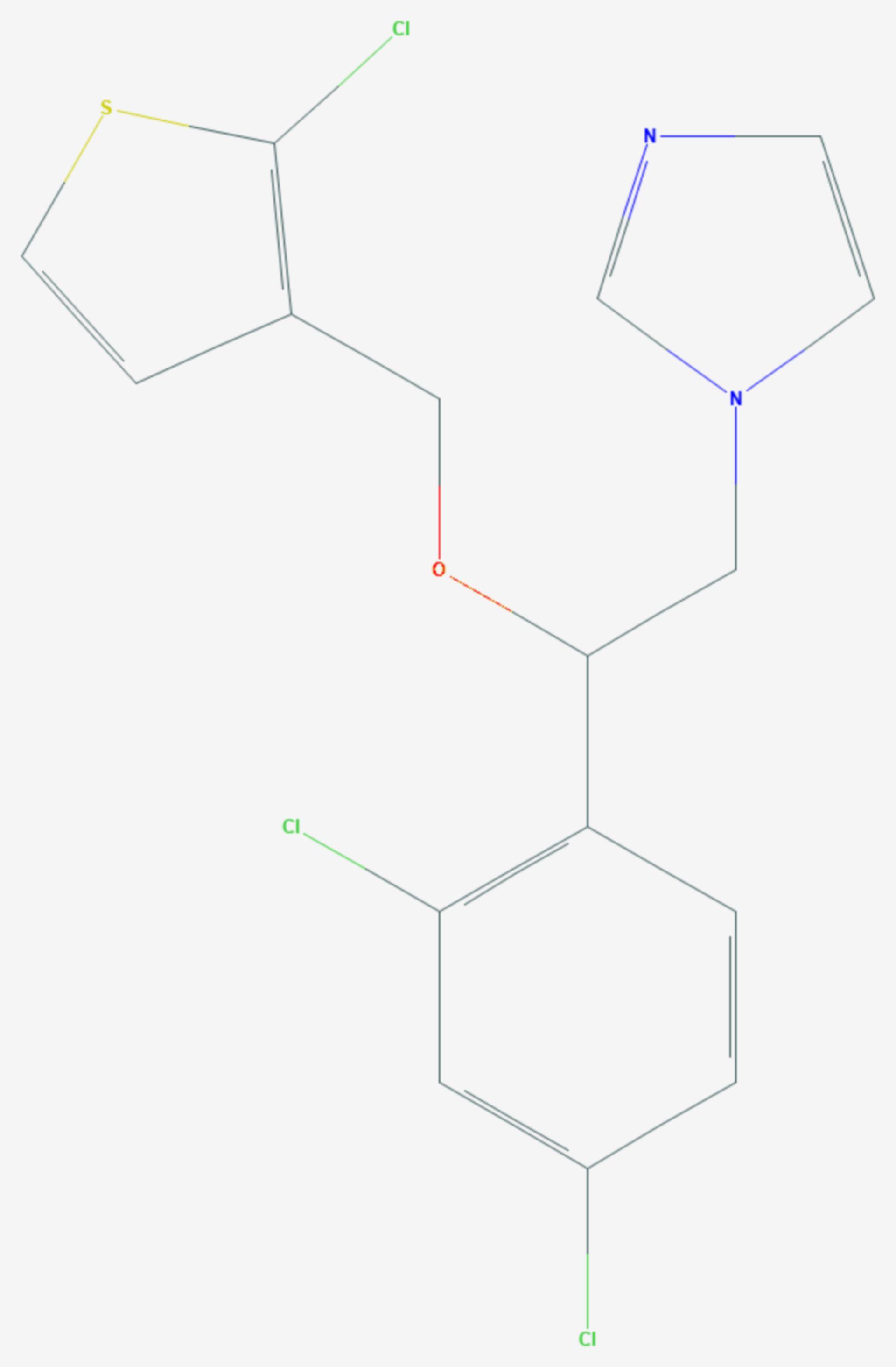 Tioconazol (Strukturformel)