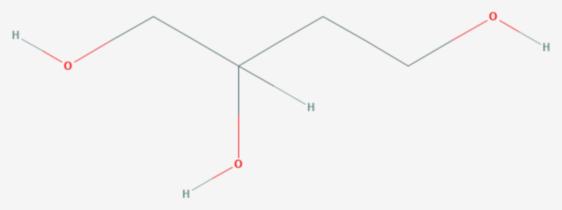 1,2,4-Butantriol (Strukturformel)