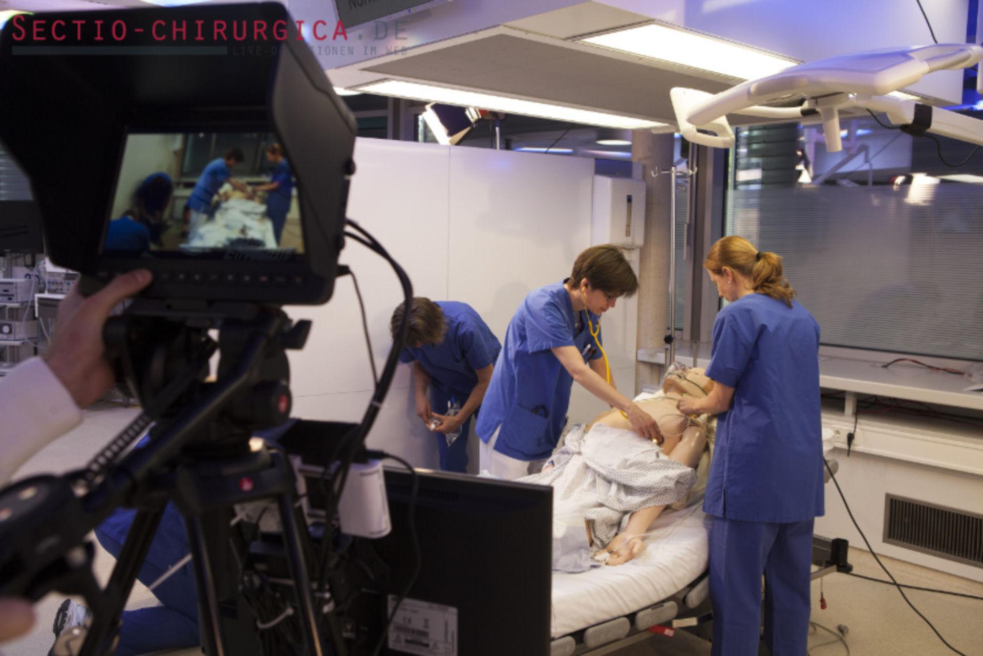 Sectio chirurgica: Vorbereitungen im OP-Saal