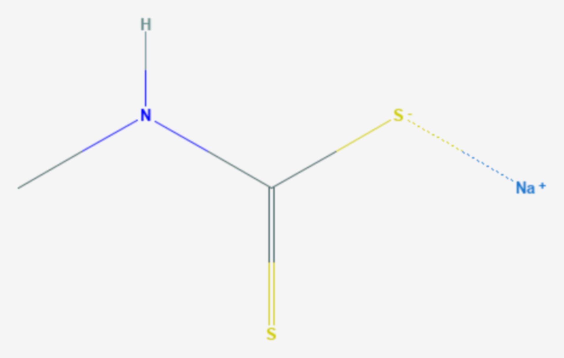 Metam-Natrium (Strukturformel)