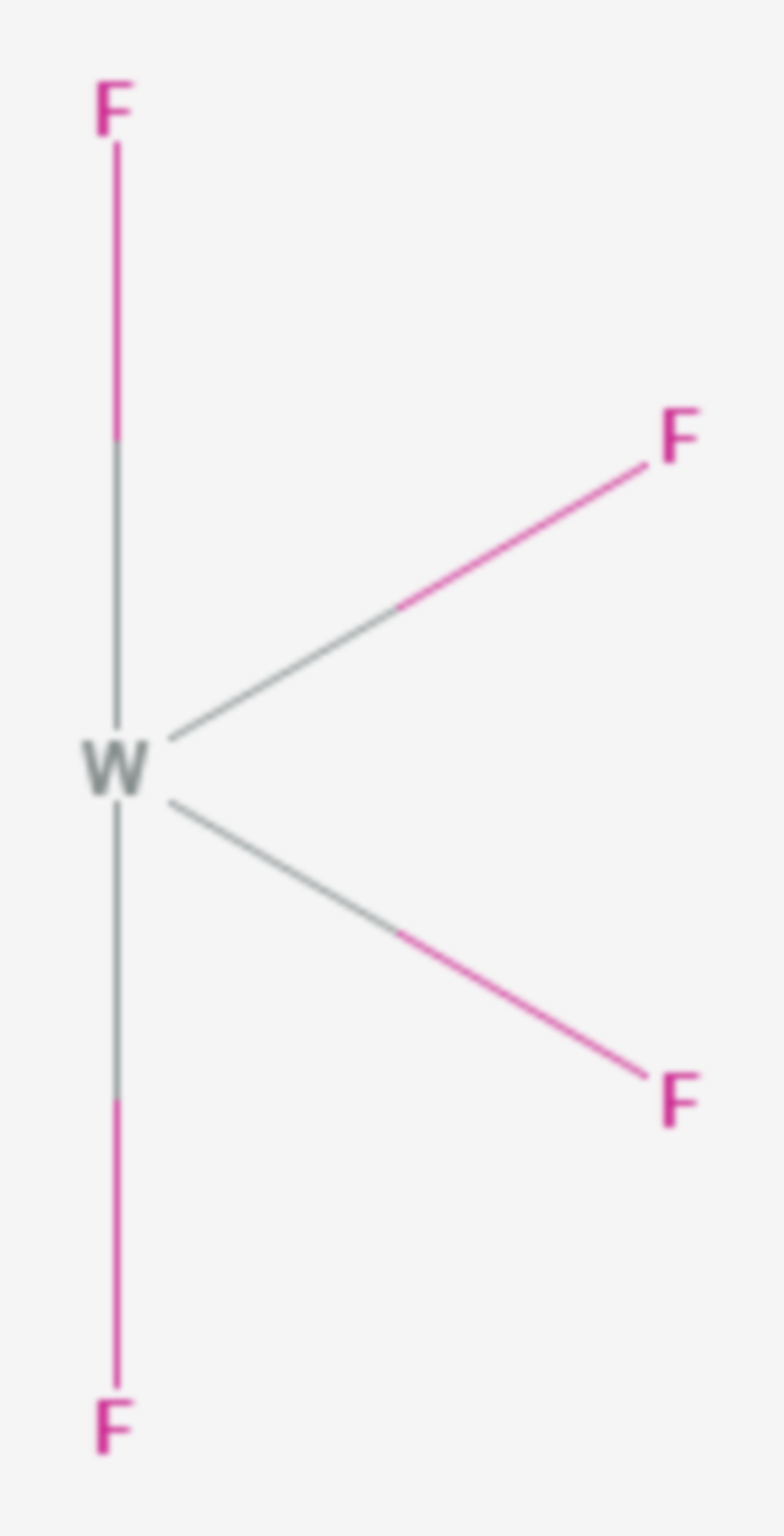 Wolfram(IV)-fluorid (Strukturformel)