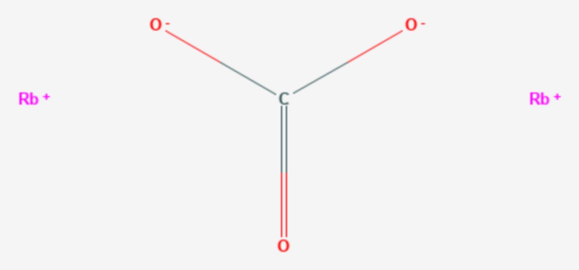 Rubidiumcarbonat (Strukturformel)