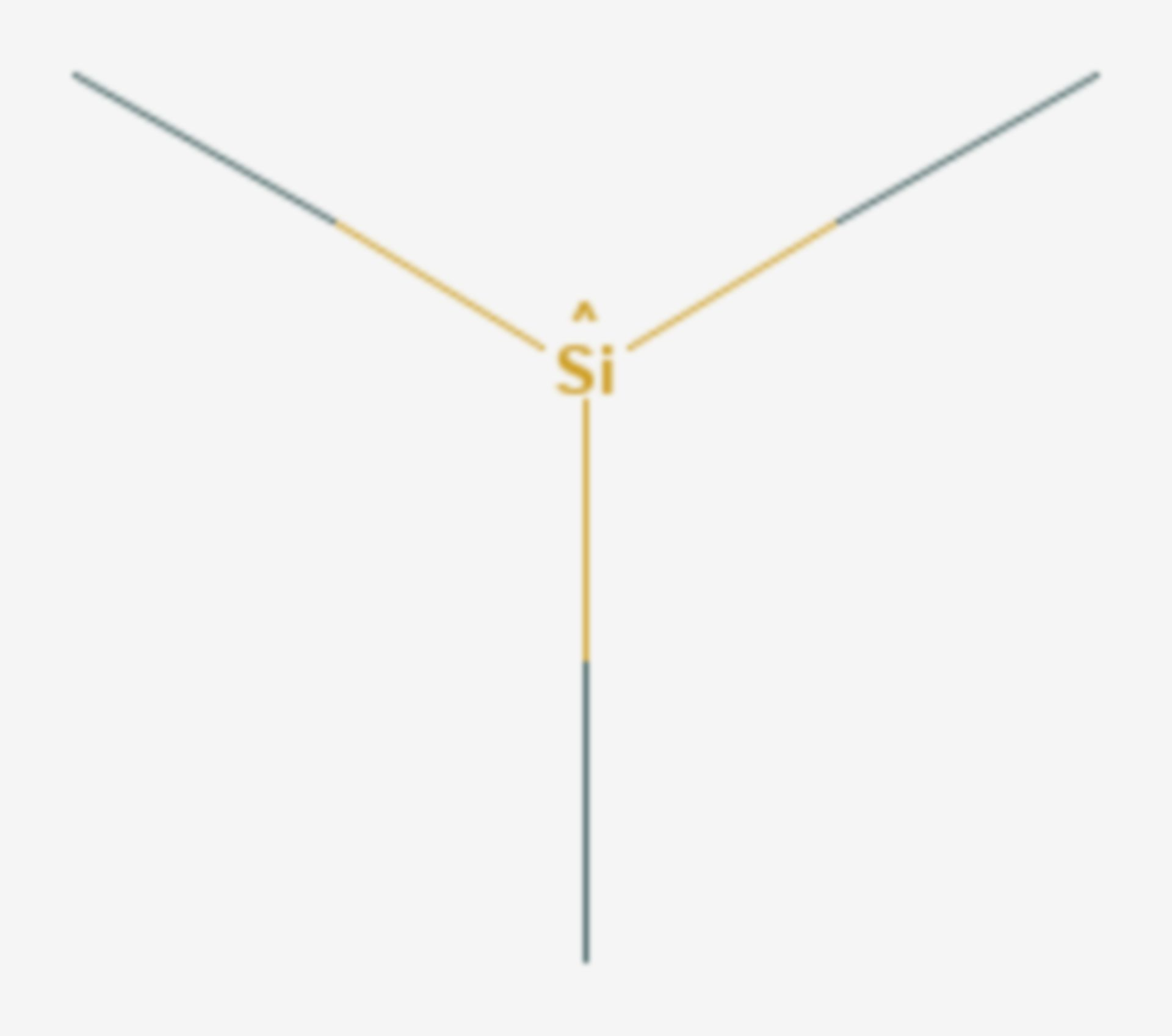 Trimethylsilan (Strukturformel)