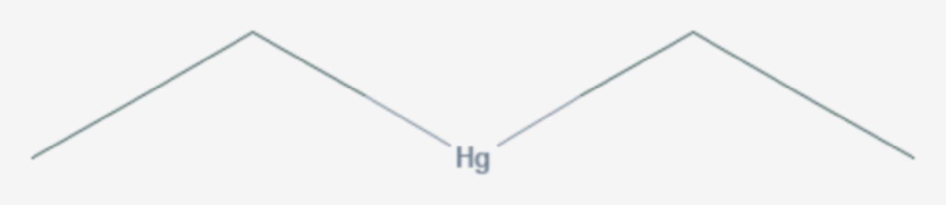 Diethylquecksilber (Strukturformel)