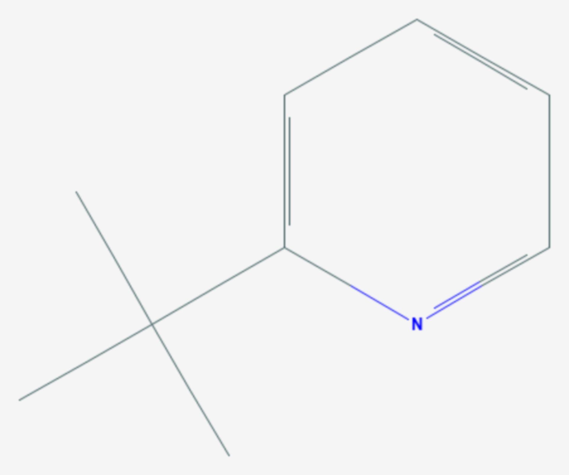 2-tert-Butylpyridin (Strukturformel)