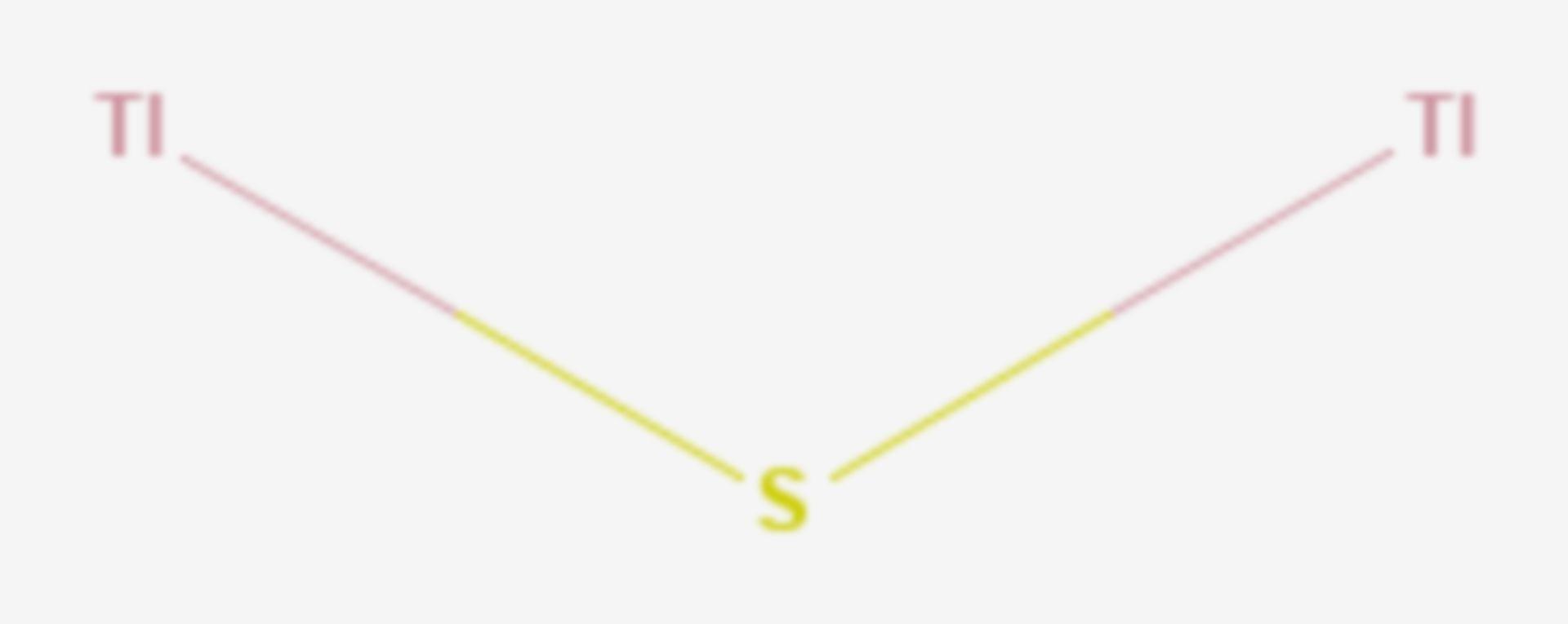 Thallium(I)-sulfid (Strukturformel)