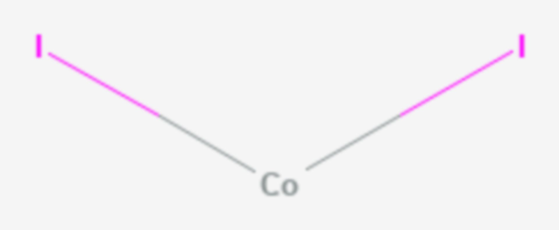 Cobalt(II)-iodid (Strukturformel)