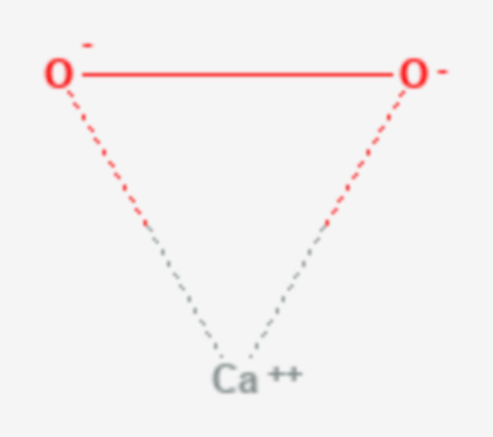 Calciumperoxid (Strukturformel)