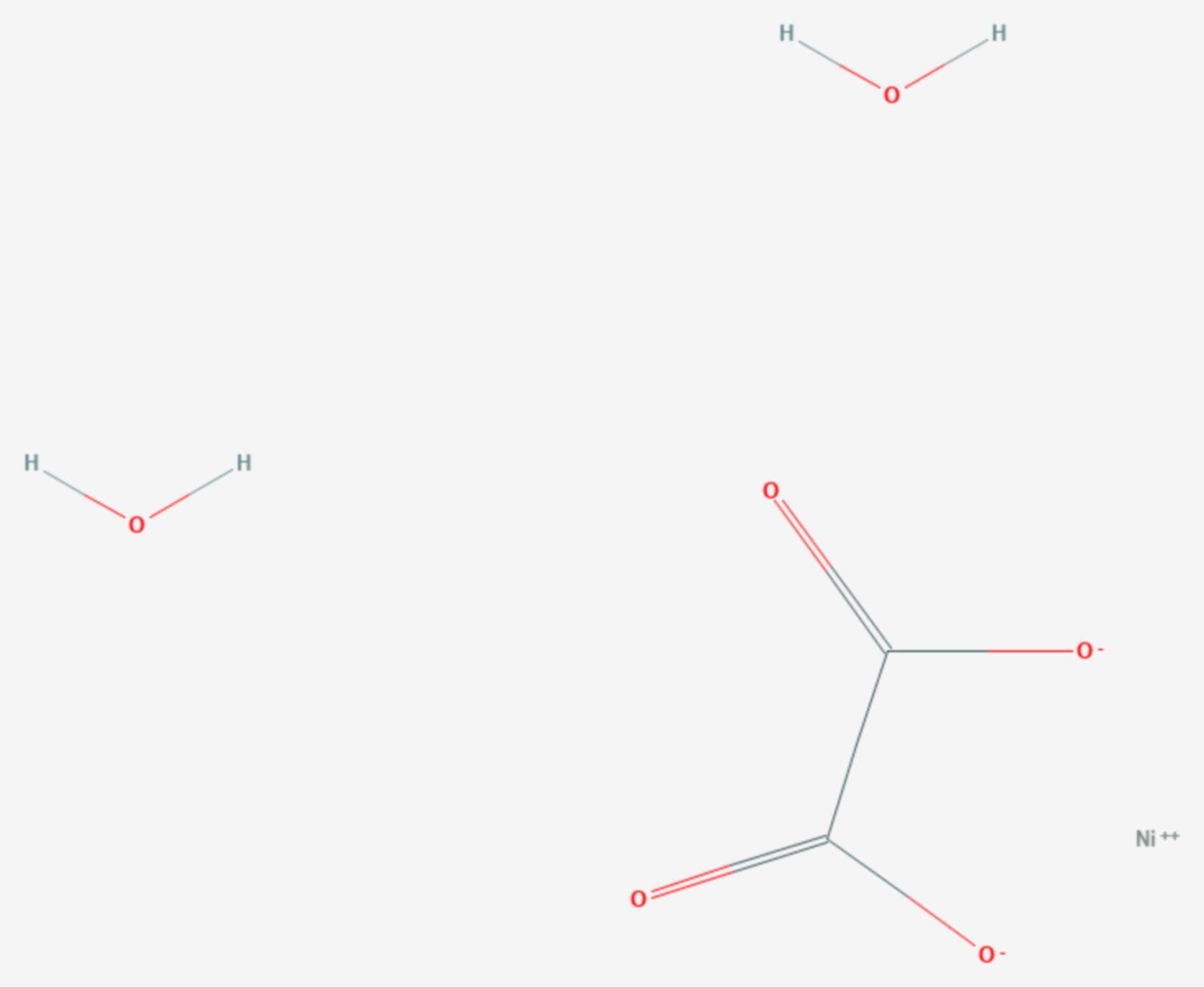 Nickeloxalat (Strukturformel)