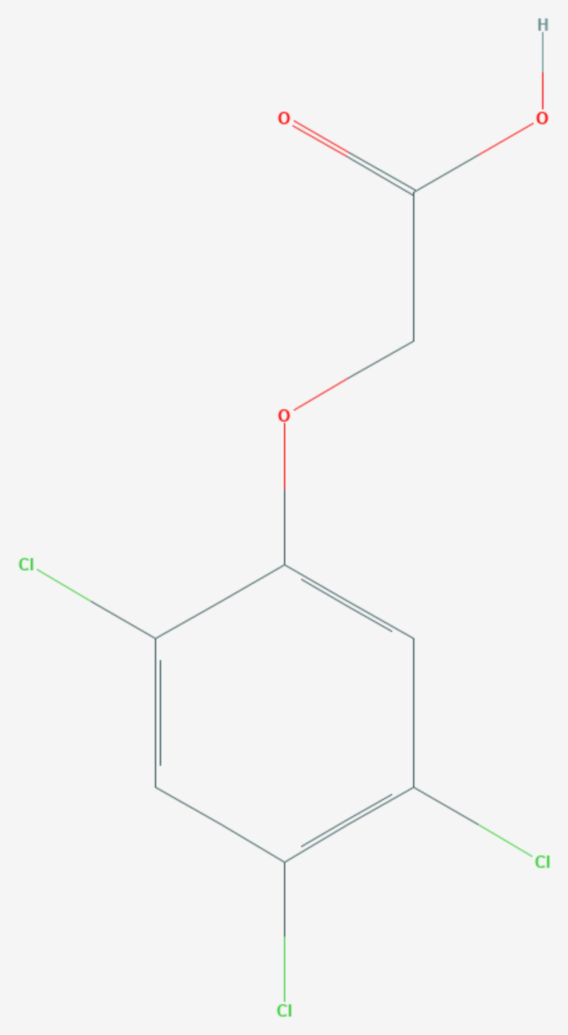 2,4,5-Trichlorphenoxyessigsäure (Strukturformel)