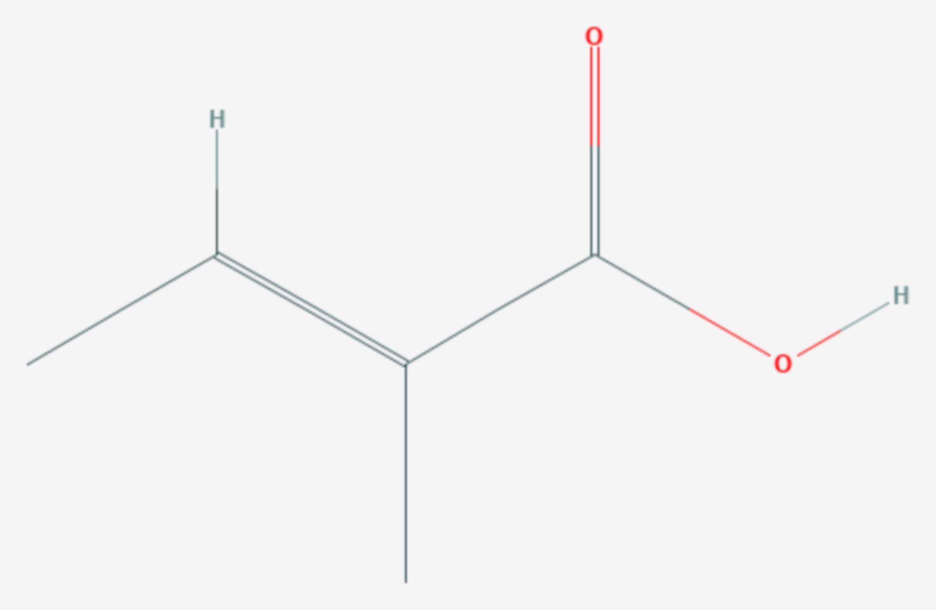 Tiglinsäure (Strukturformel)