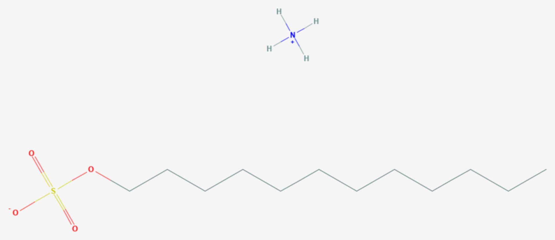 Ammoniumlaurylsulfat (Strukturformel)