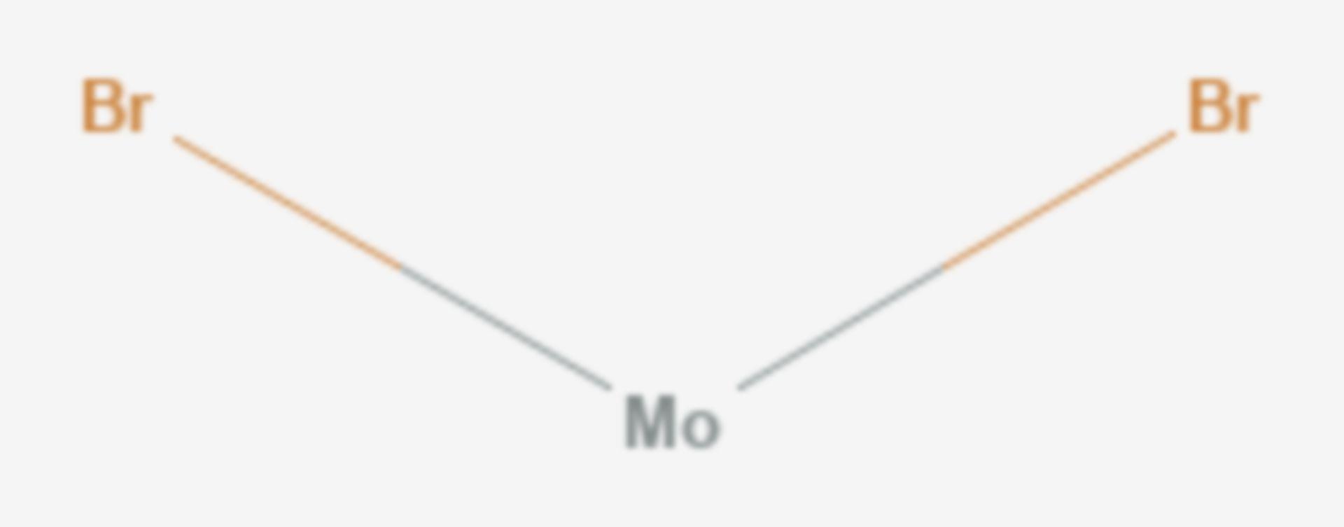 Molybdän(II)-bromid (Strukturformel)