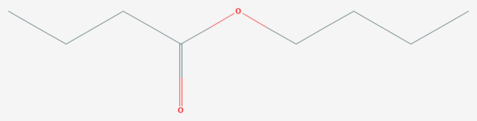 Buttersäure-n-butylester (Strukturformel)
