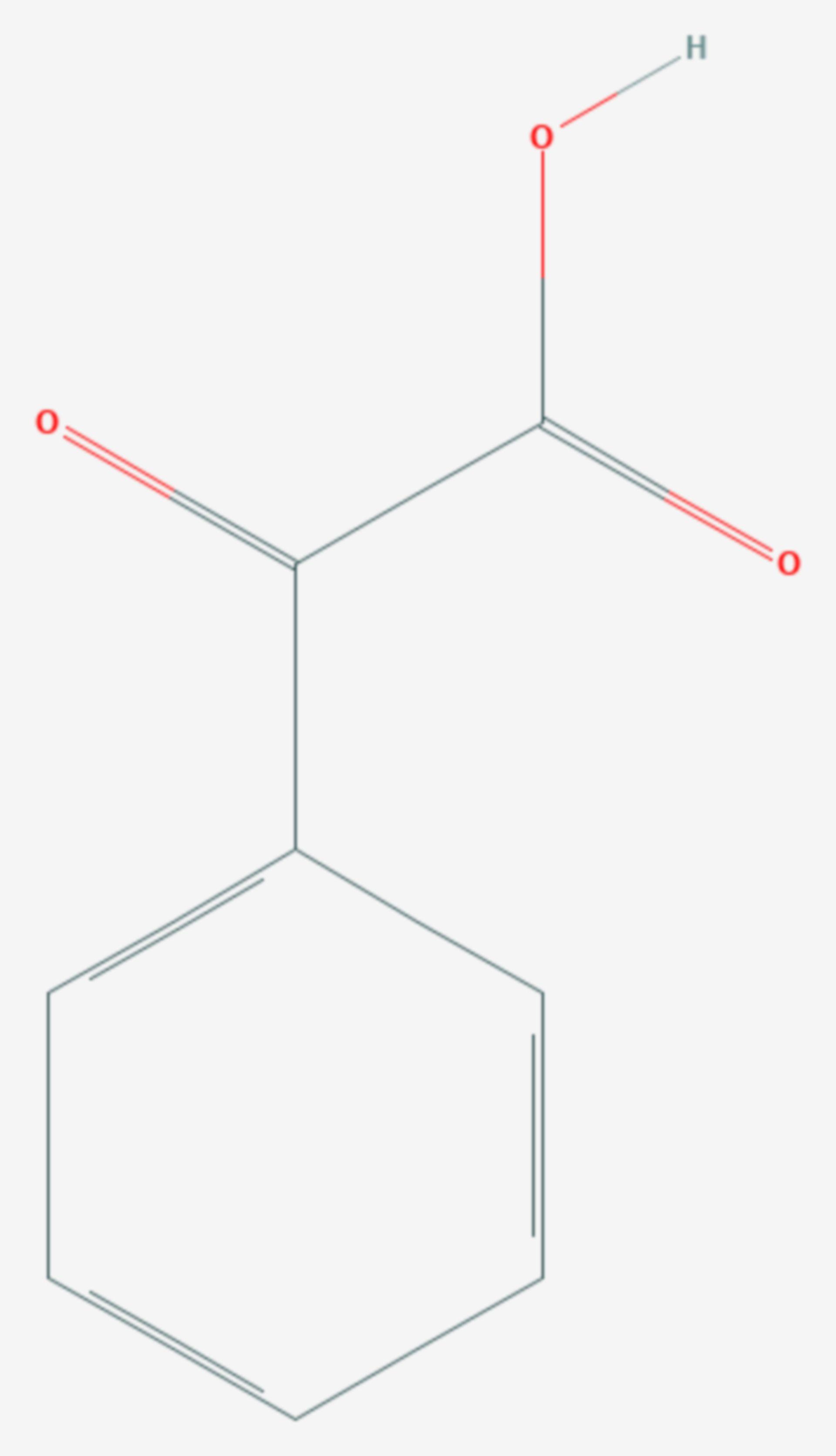 Phenylglyoxylsäure (Strukturformel)