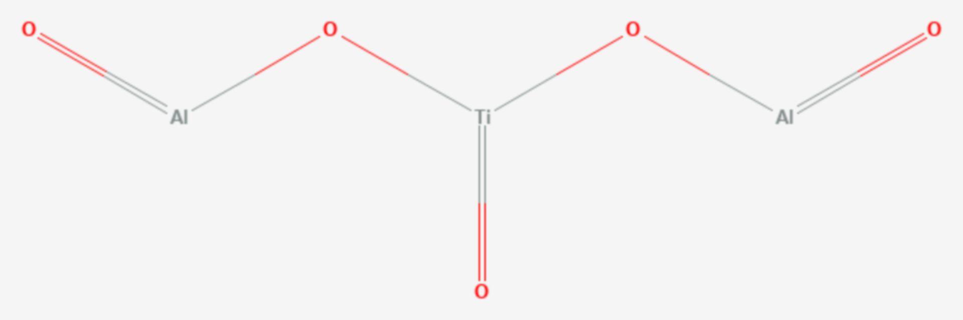 Aluminiumtitanat (Strukturformel)