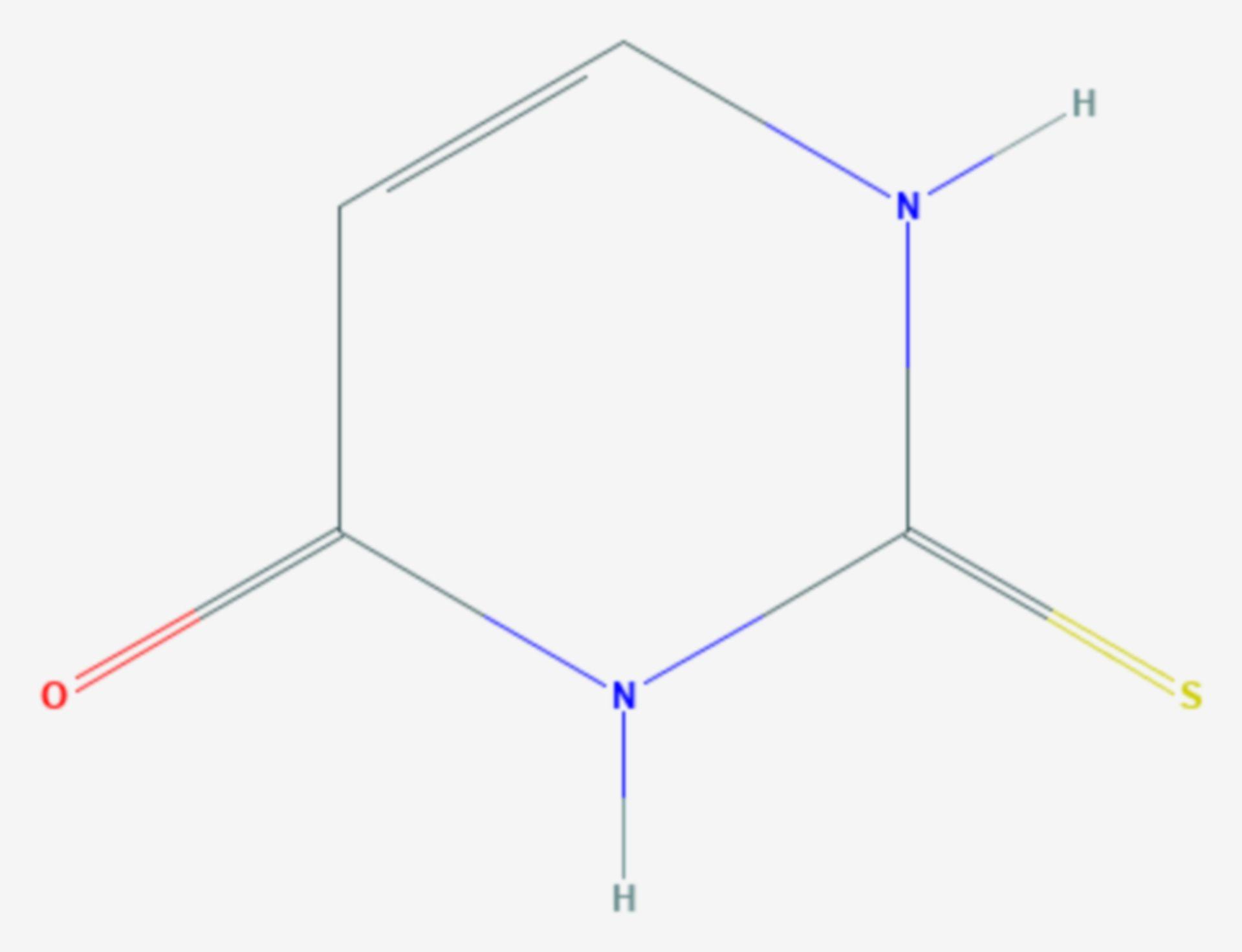 Thiouracil (Strukturformel)
