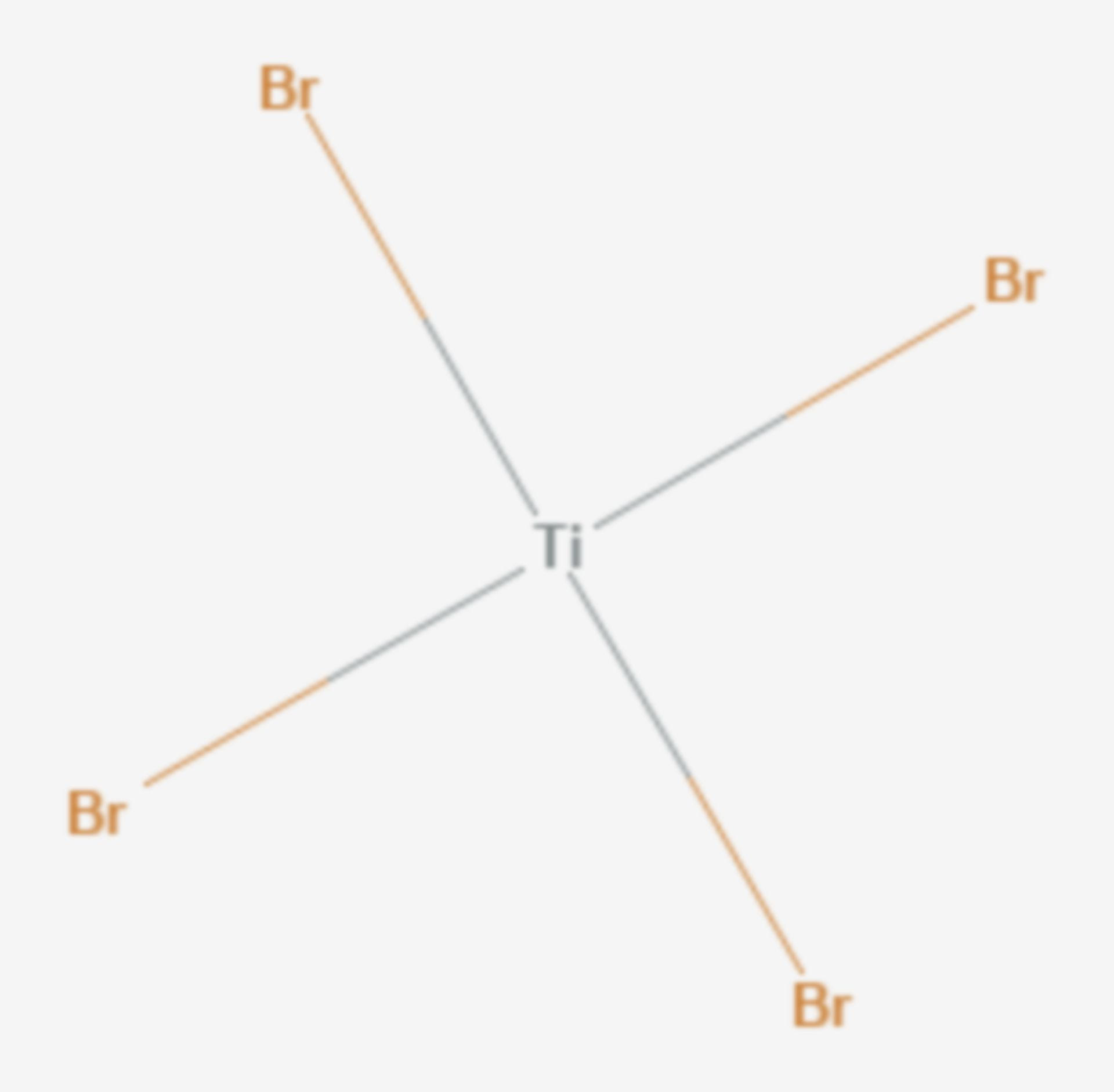 Titan(IV)-bromid (Strukturformel)