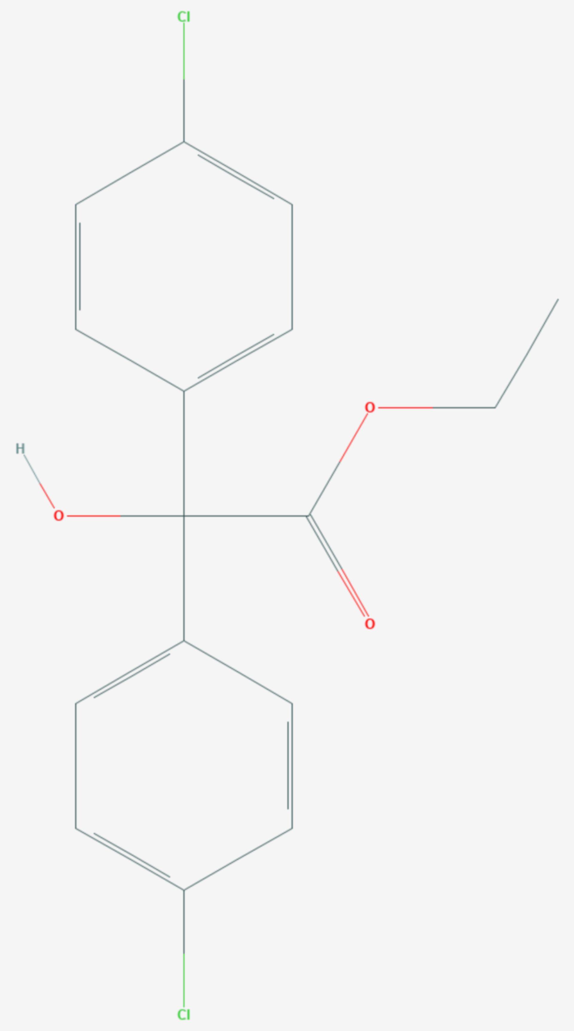 Chlorobenzilat (Strukturformel)