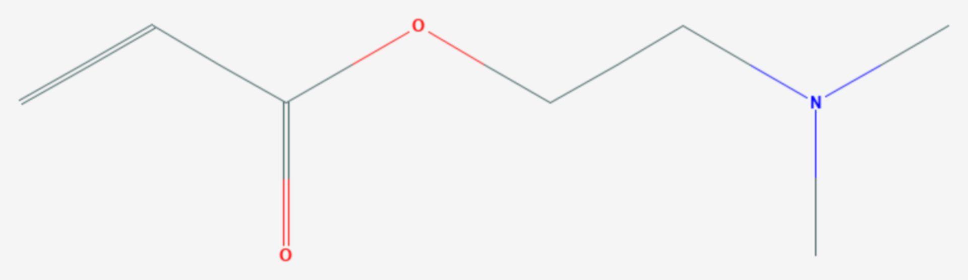Dimethylaminoethylacrylat (Strukturformel)