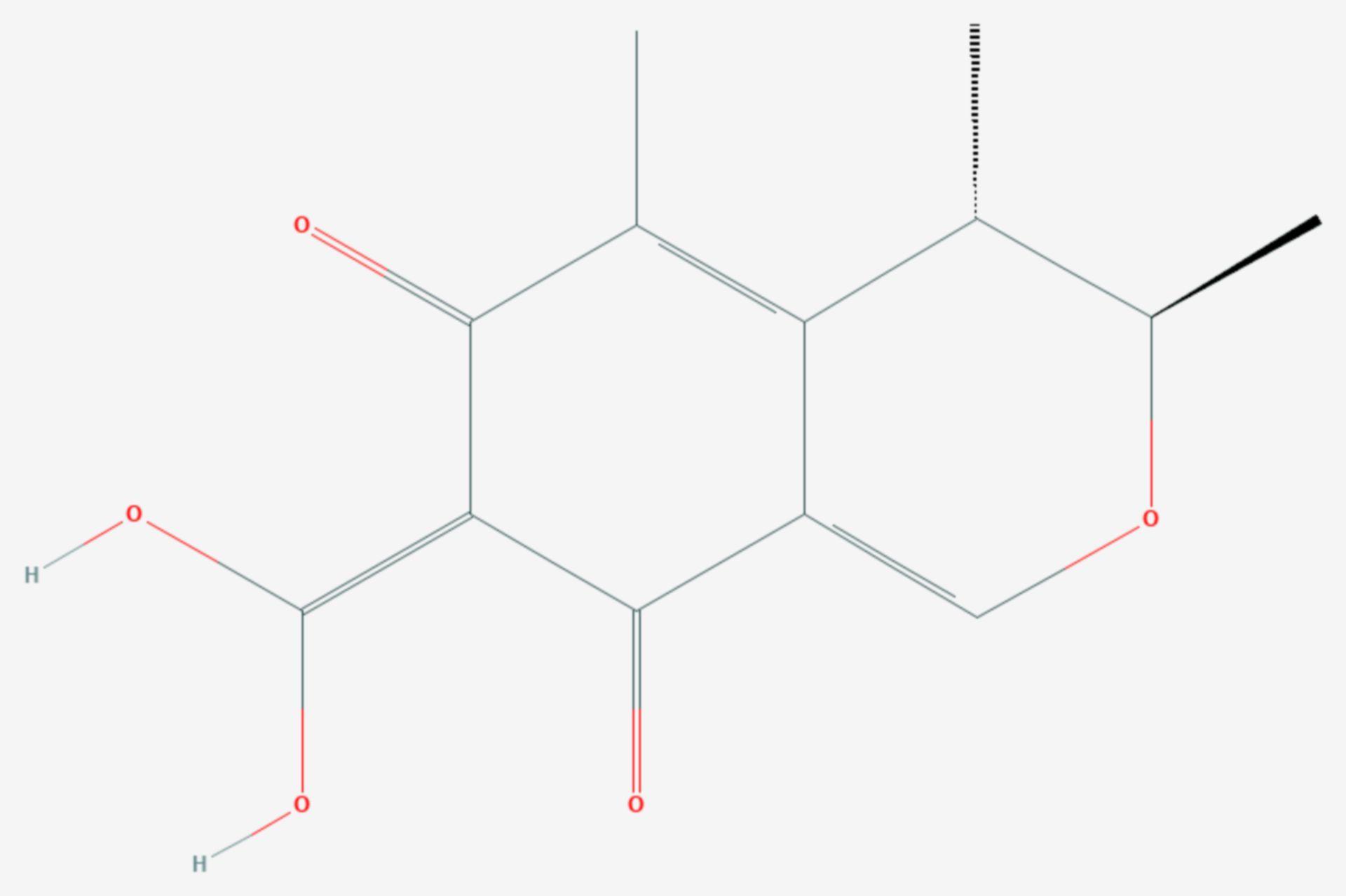 Citrinin (Strukturformel)
