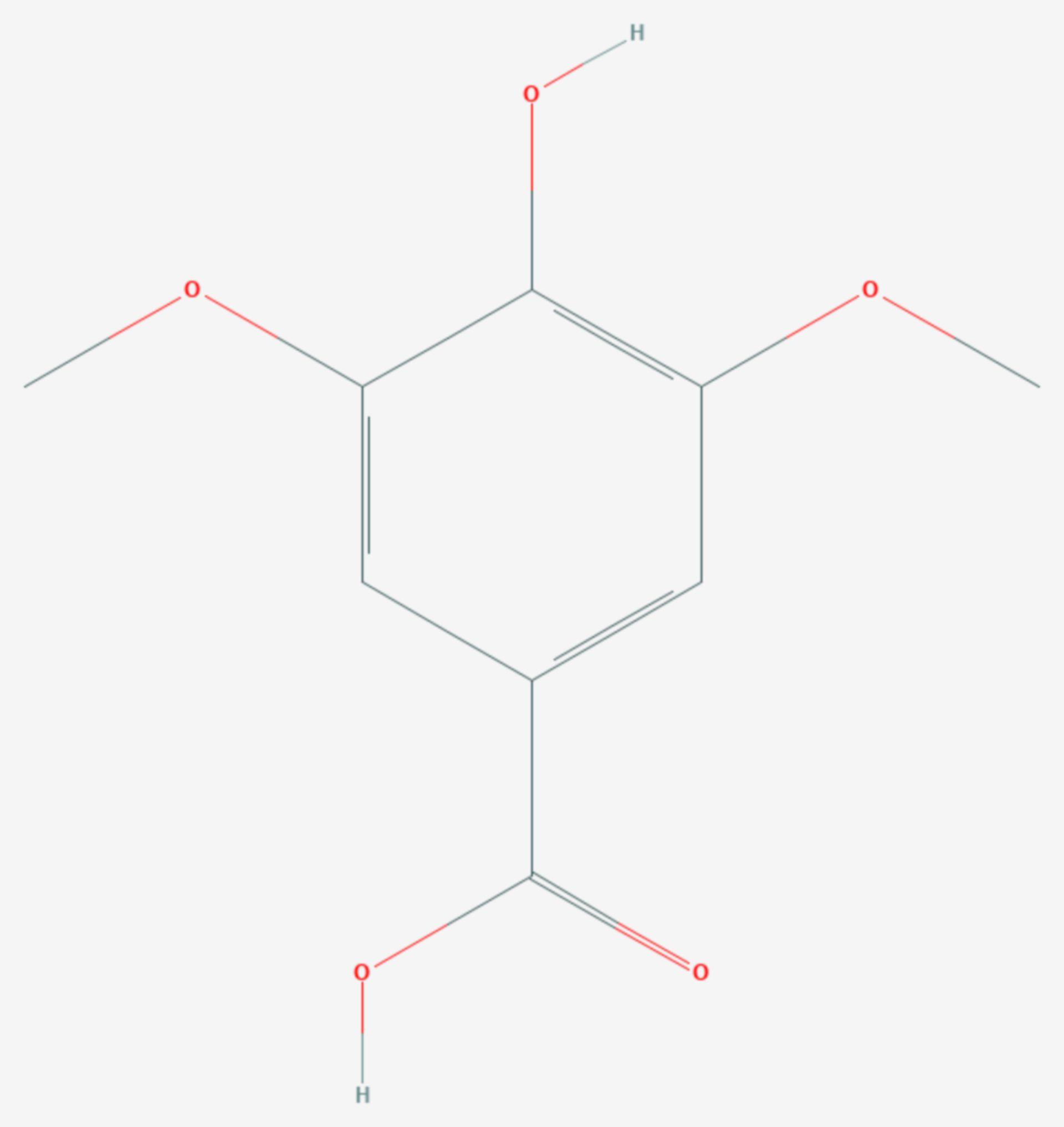 Syringasäure (Strukturformel)