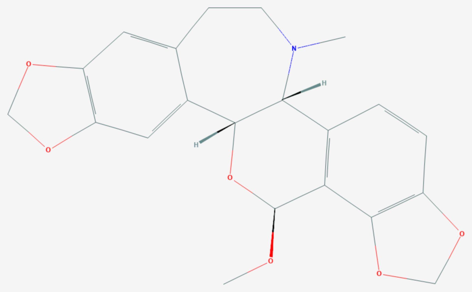 Rhoeadin (Strukturformel)