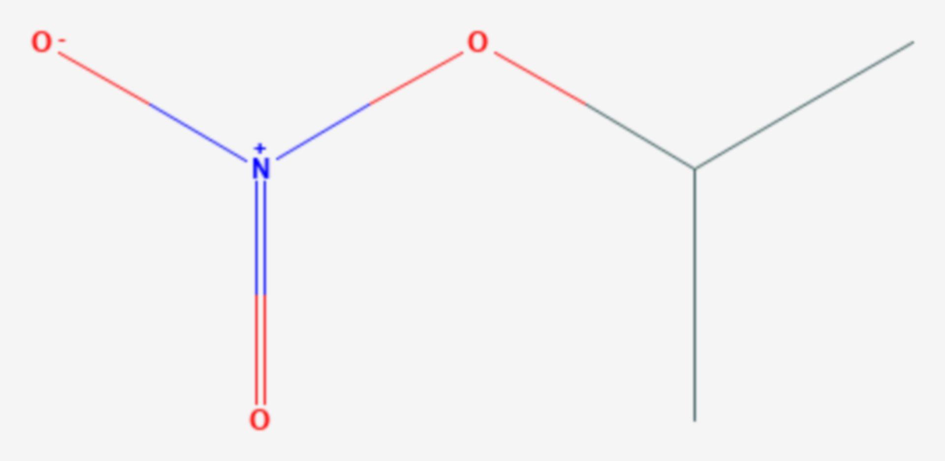 Isopropylnitrat (Strukturformel)