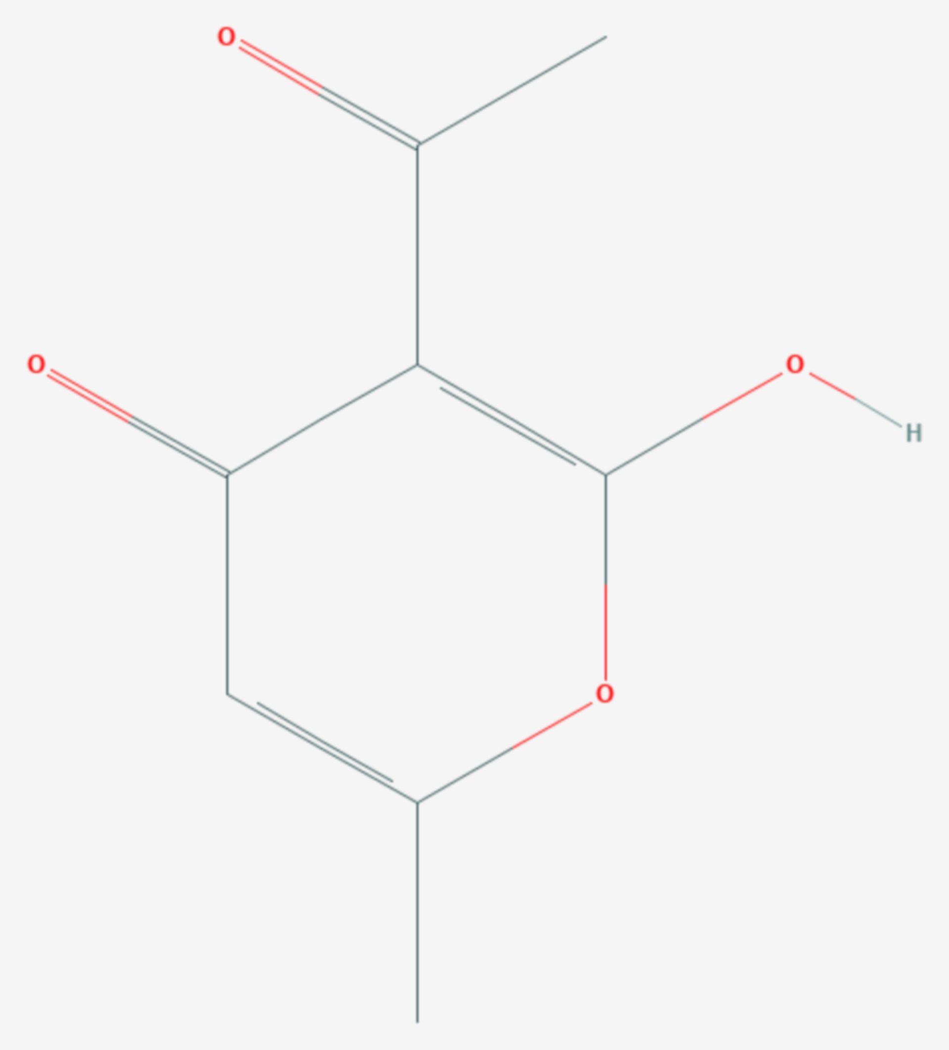 Dehydracetsäure (Strukturformel)