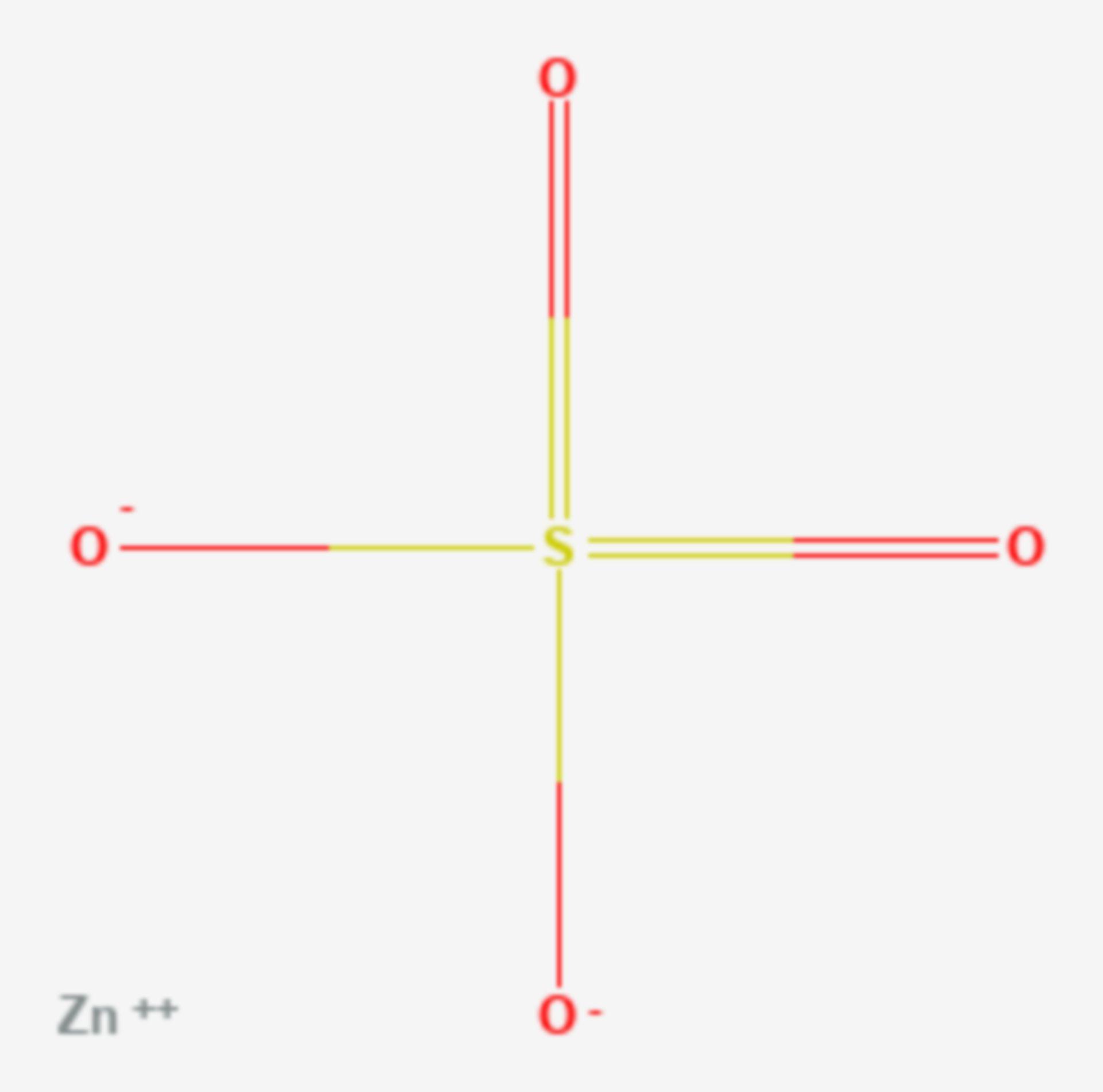 Zinksulfat (Strukturformel)