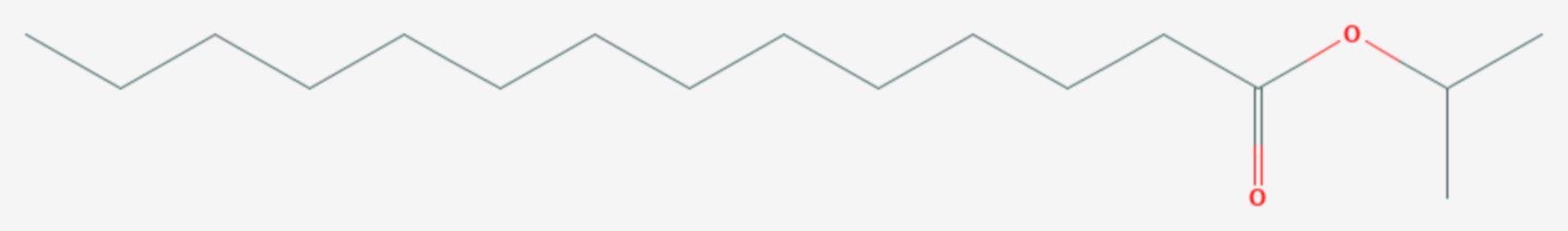 Myristinsäureisopropylester (Strukturformel)