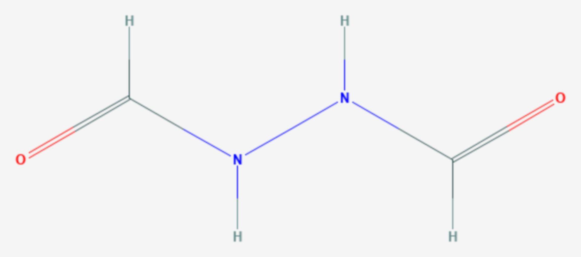 1,2-Diformylhydrazin (Strukturformel)