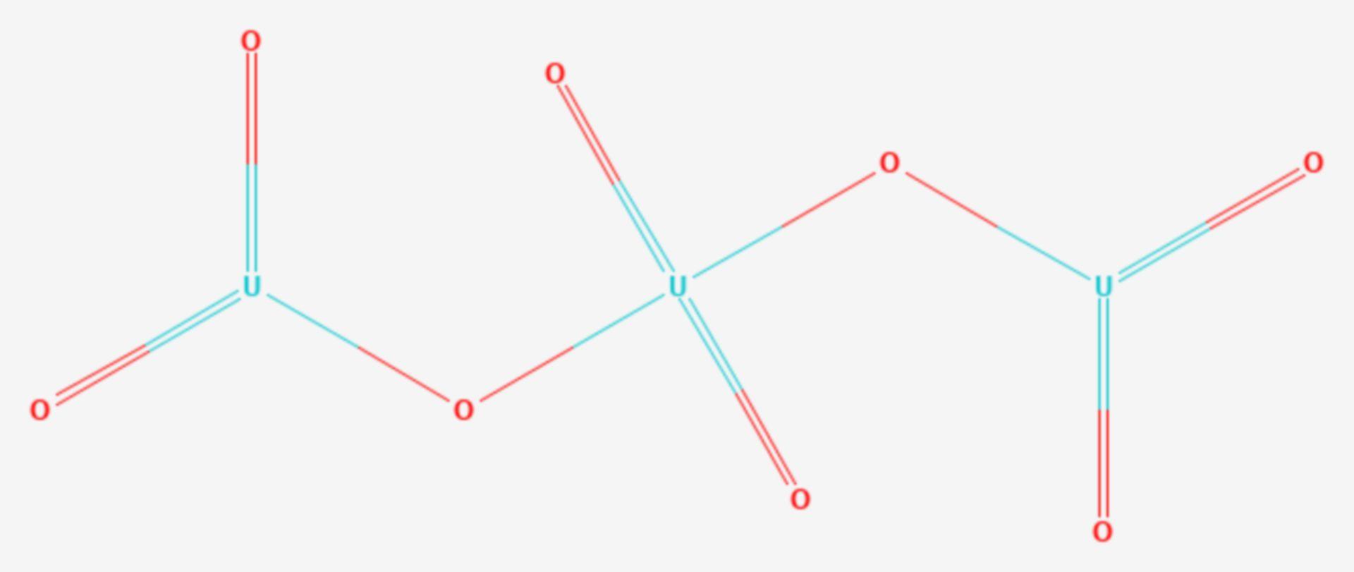 Uran(V,VI)-oxid (Strukturformel)