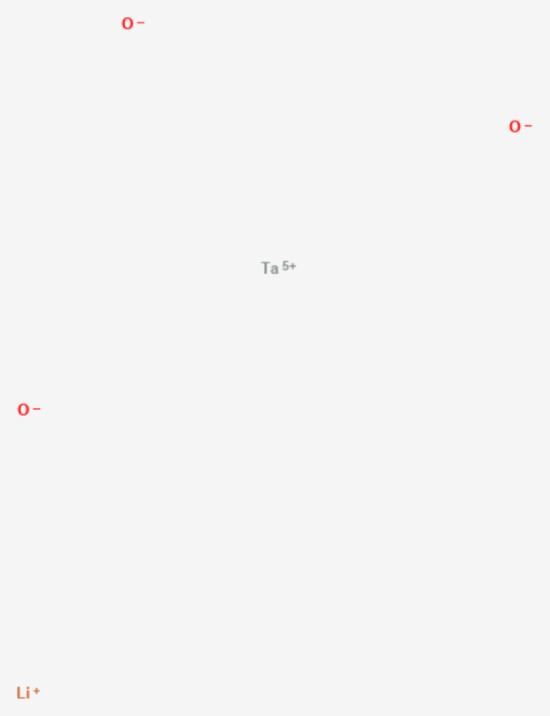 Lithiumtantalat (Strukturformel)