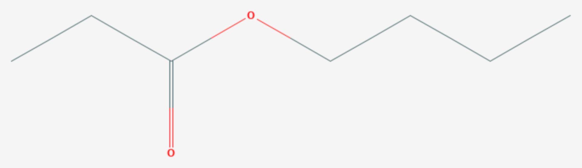 Propionsäurebutylester (Strukturformel)