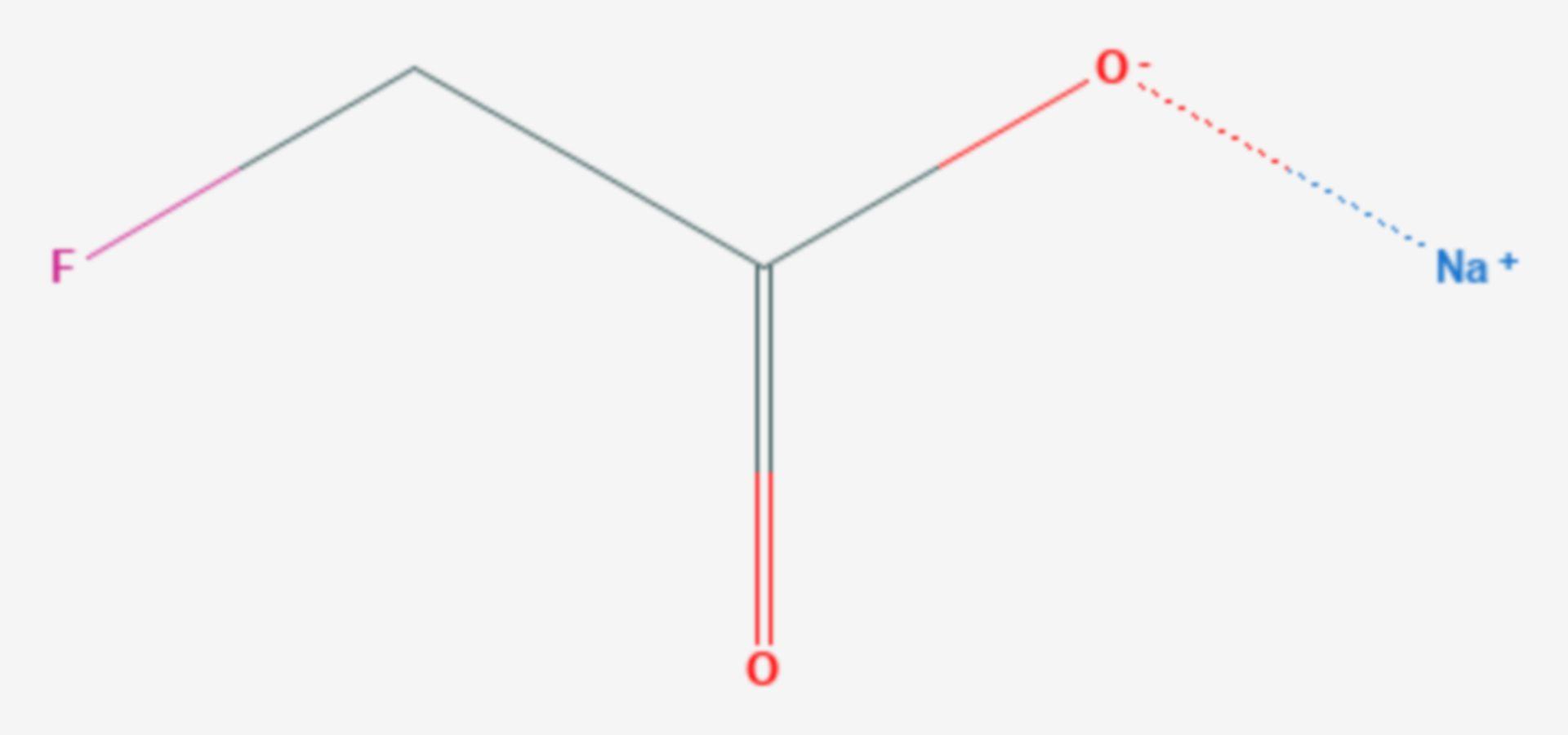 Natriumfluoracetat (Strukturformel)