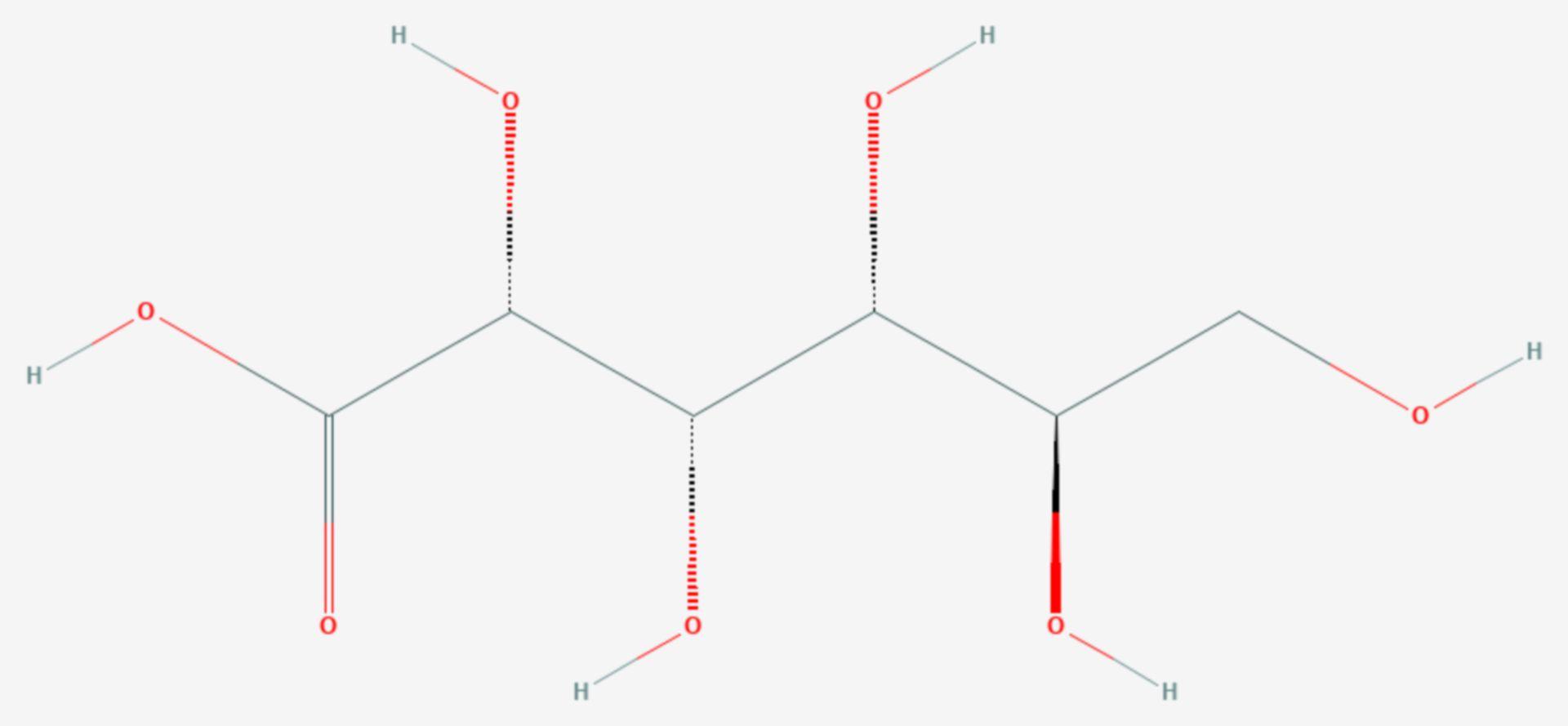 Gluconsäure (Strukturformel)
