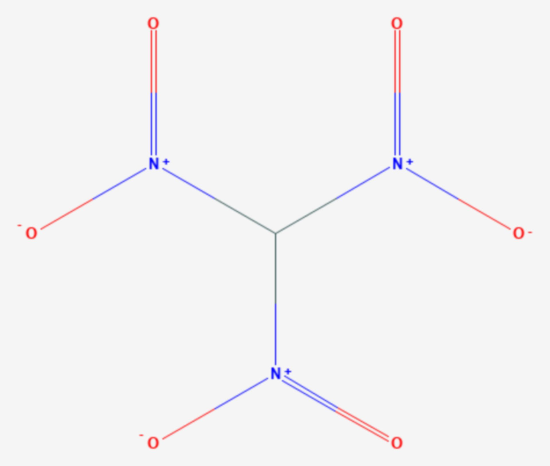 Trinitromethan (Strukturformel)