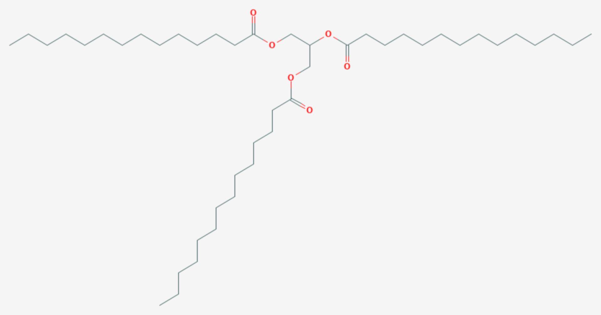 Trimyristin (Strukturformel)