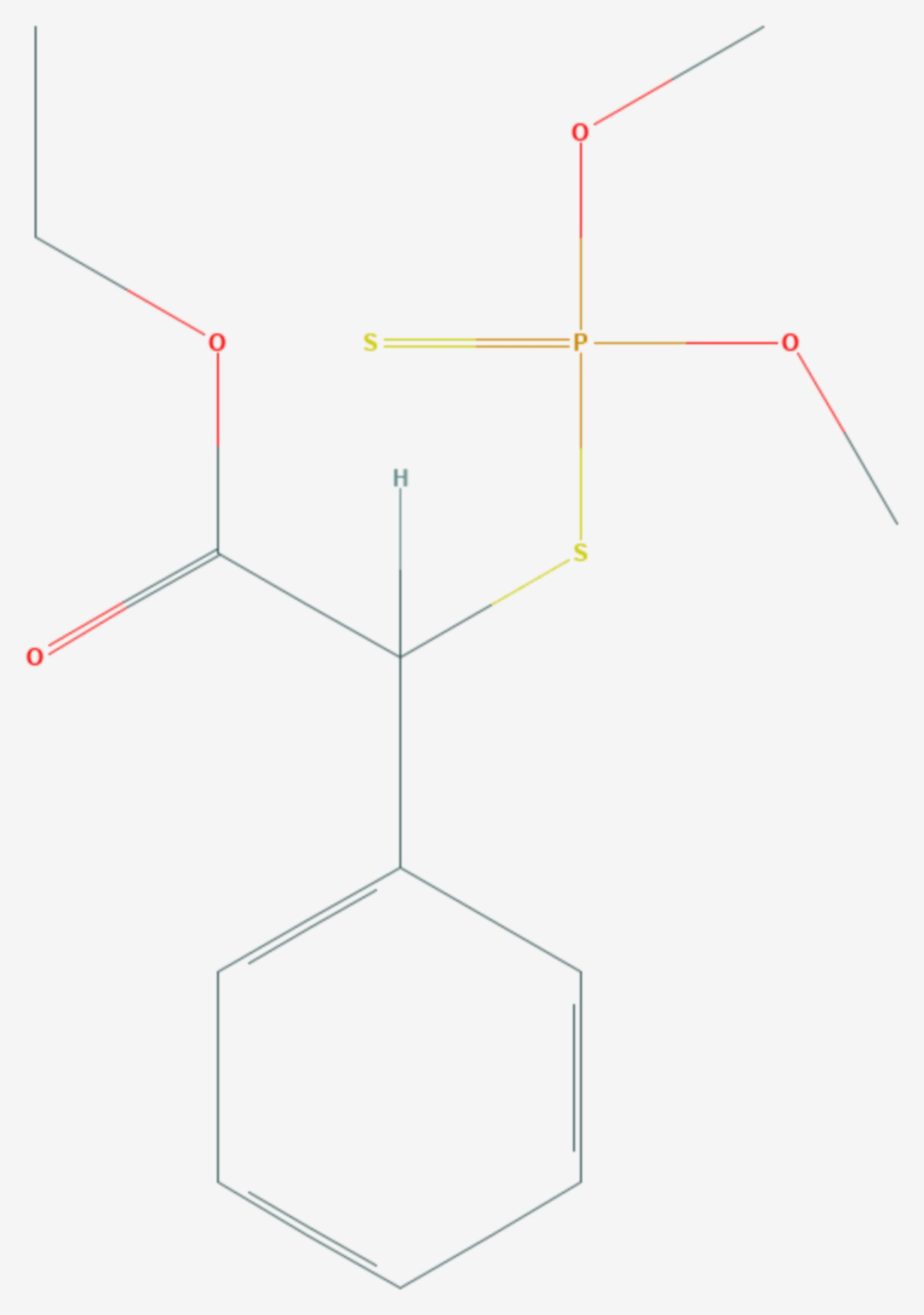 Phenthoat (Strukturformel)