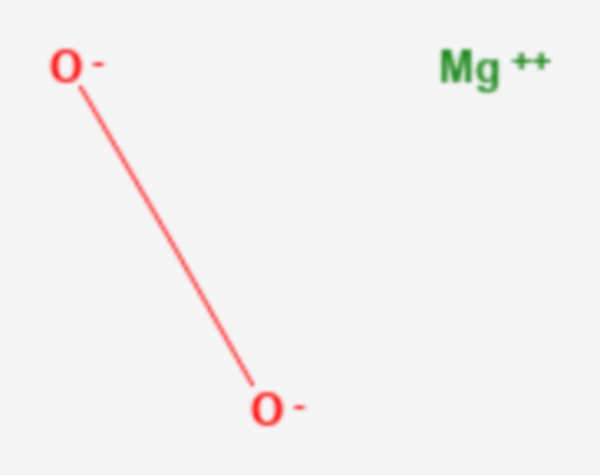 Magnesiumperoxid (Strukturformel)