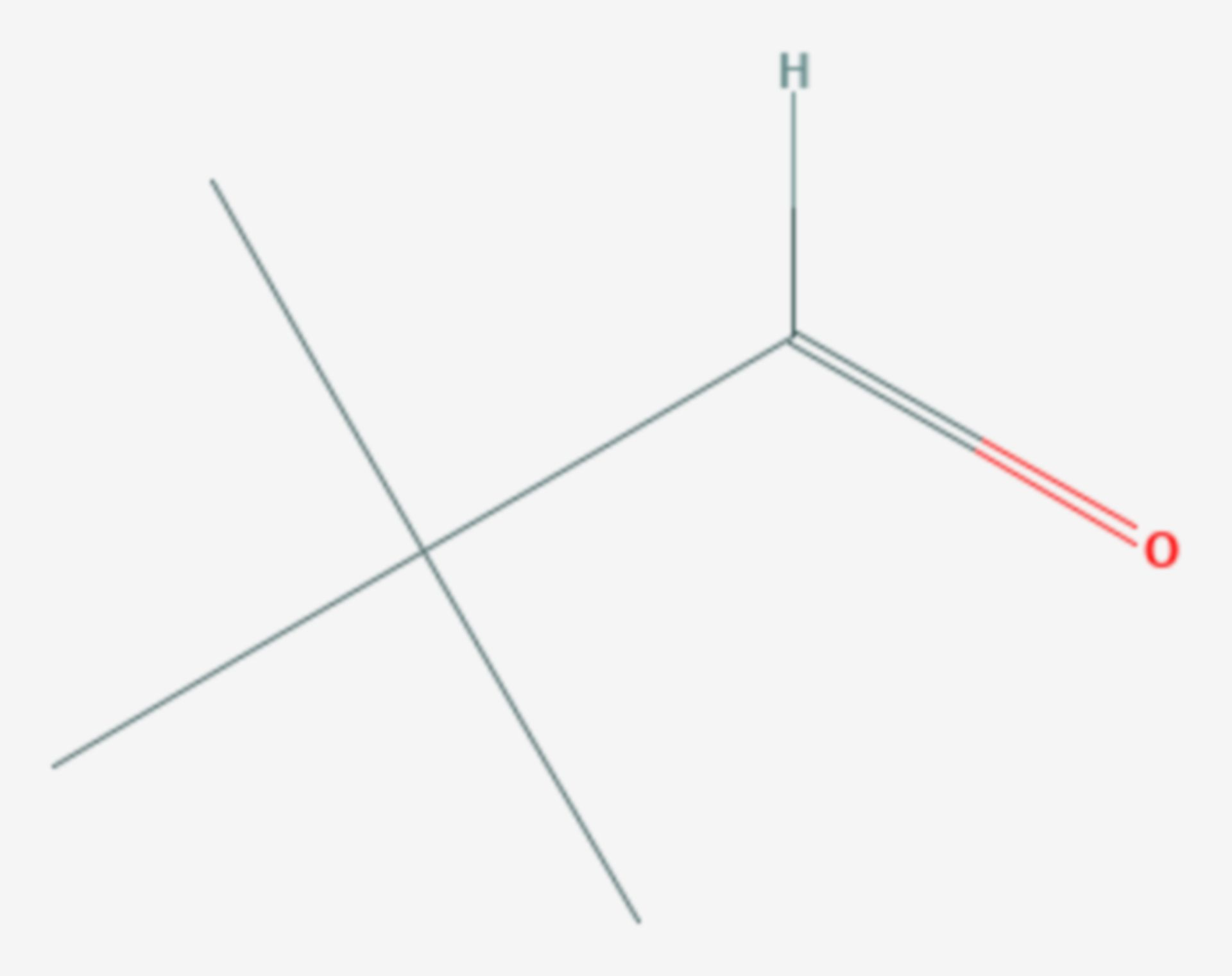 Pivalaldehyd (Strukturformel)