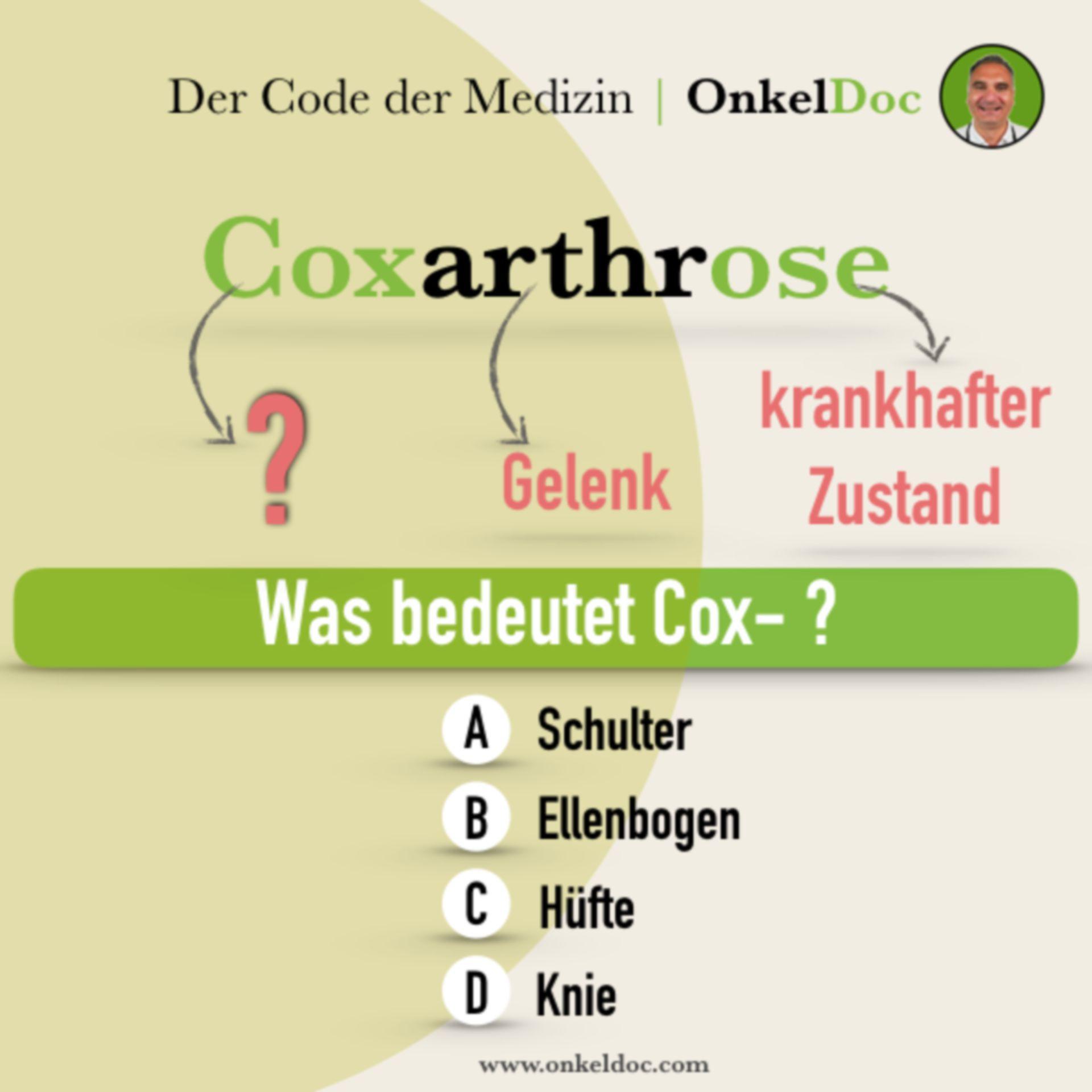 Frage zum Code der Coxarthrose