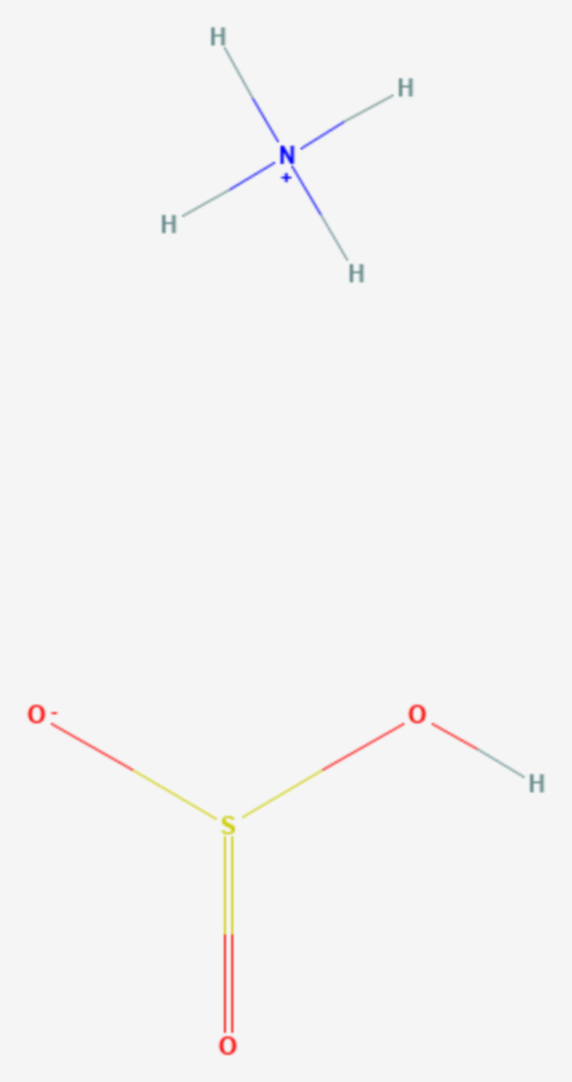 Ammoniumhydrogensulfit (Strukturformel)