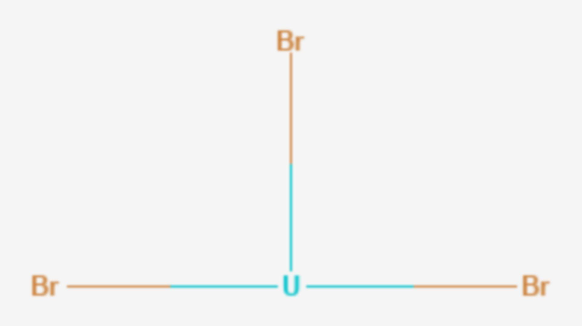 Uran(III)-bromid (Strukturformel)
