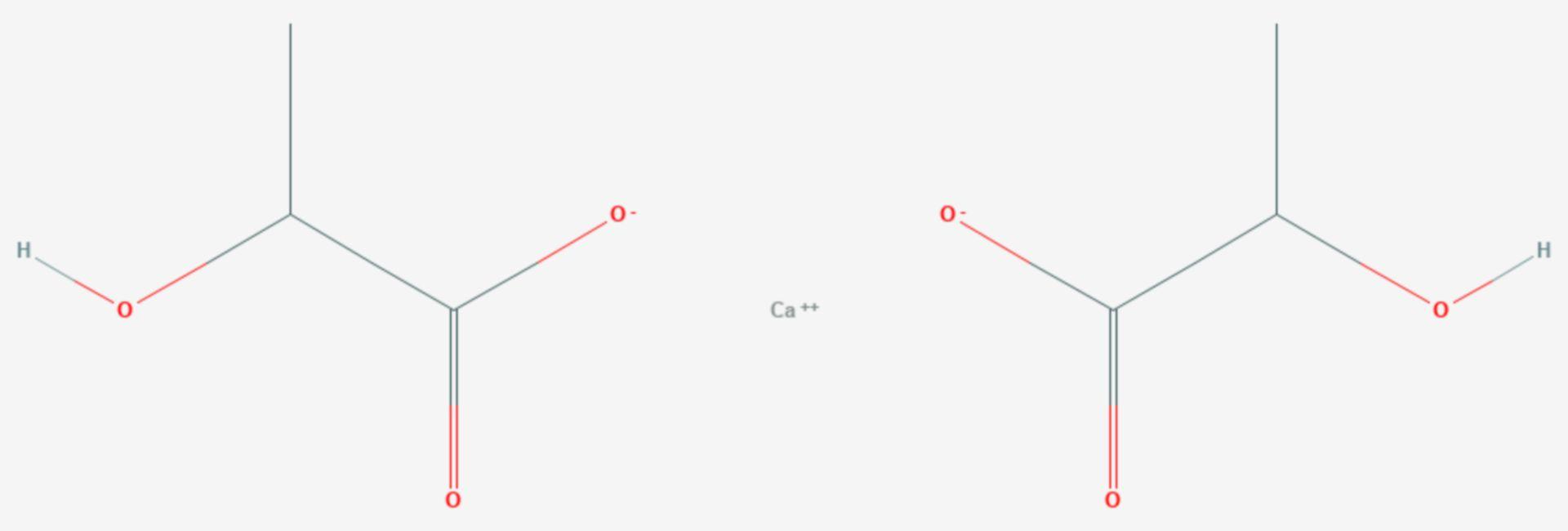 Calciumlactat (Strukturformel)