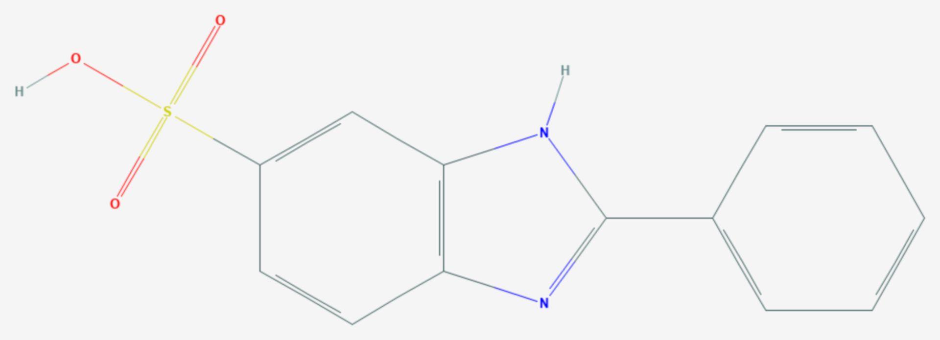 Phenylbenzimidazolsulfonsäure (Strukturformel)