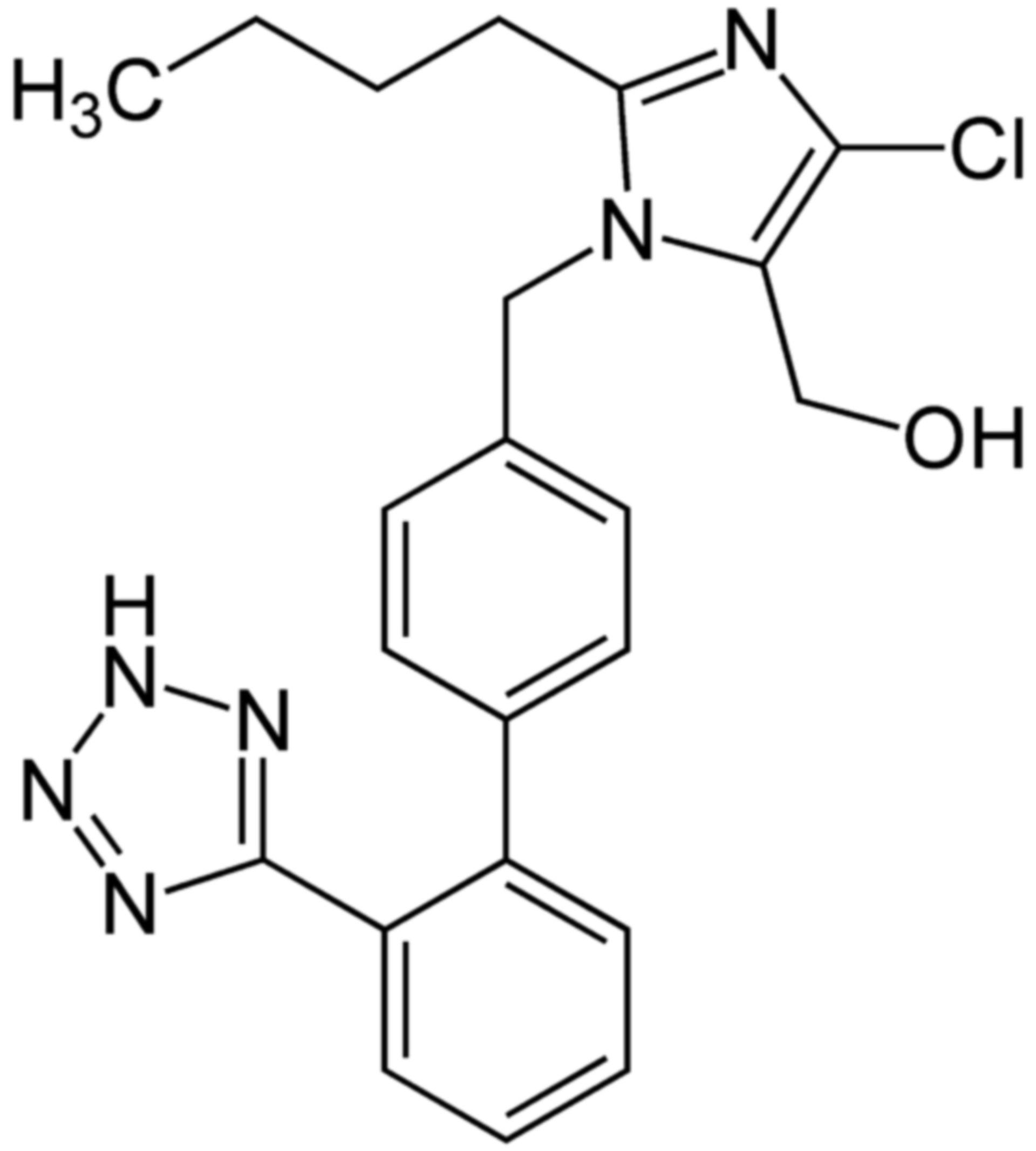 Losartan Strukturformel 2D