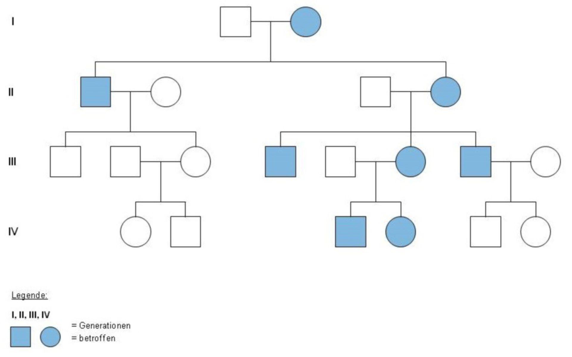 Arbol genealógico (enfermedad mitocondrial)