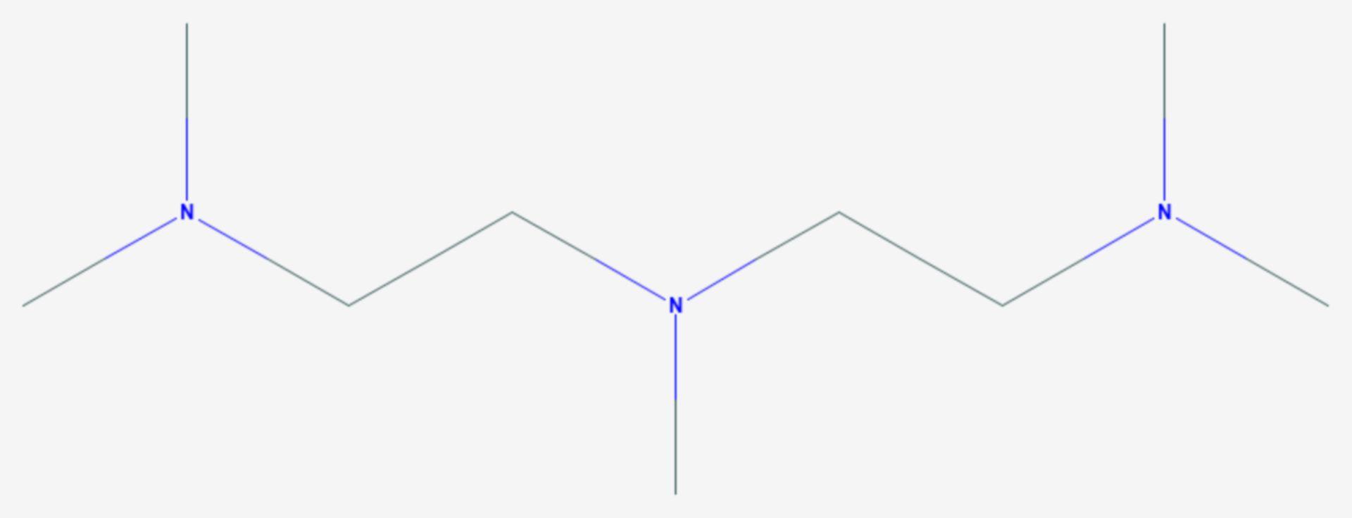Bis(2-dimethylaminoethyl)methylamin (Strukturformel)